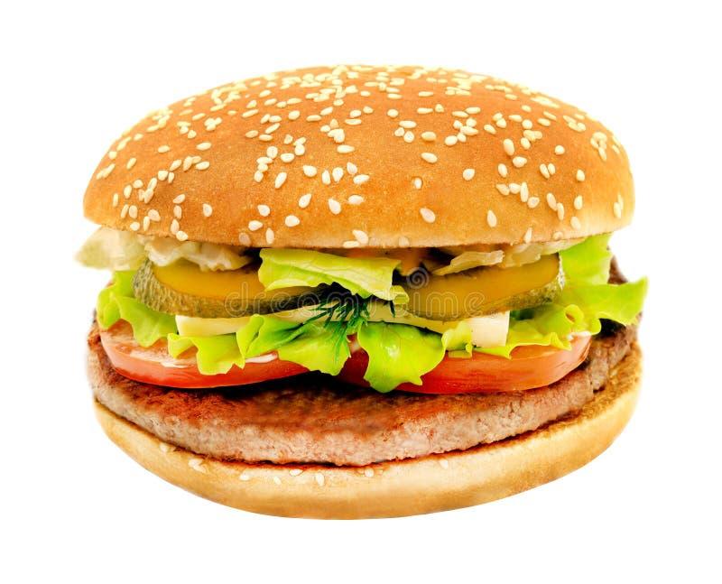 Photos big tasty burger stock photo