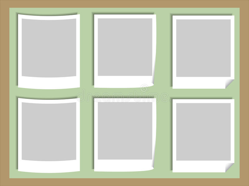 Photos Board. Illustration of Blank Photos on the Board vector illustration