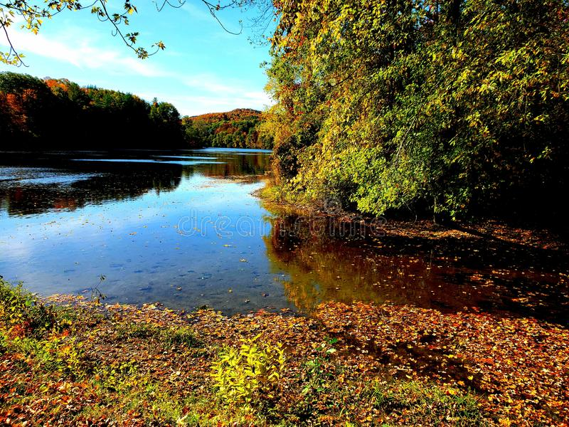 Photos on the connecticut river royalty free stock photography