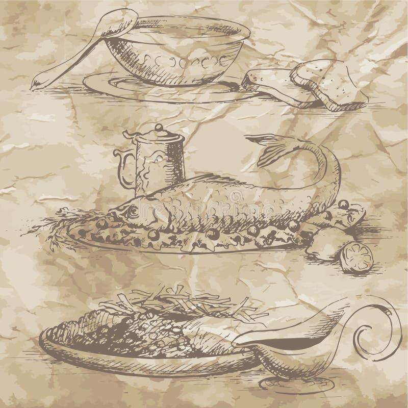 Photos de nourriture pour le menu illustration libre de droits
