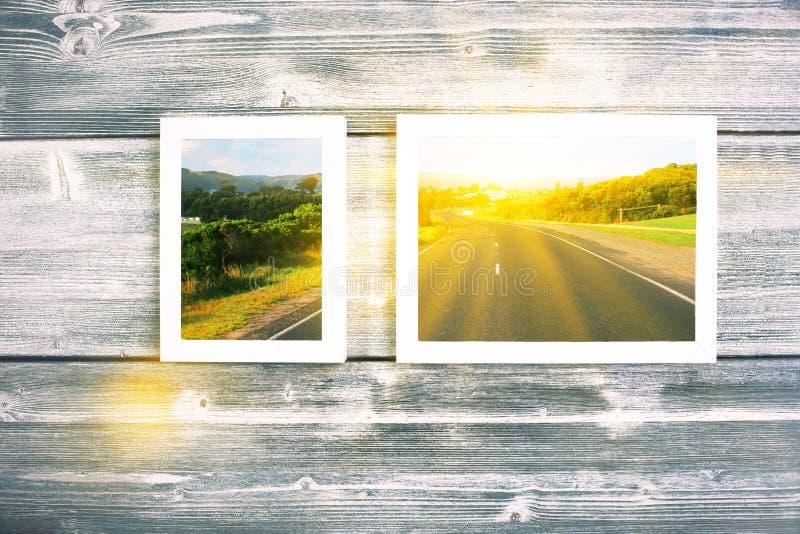 Photos de paysage dans les cadres photographie stock