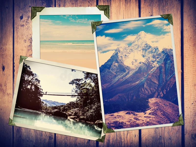 Photos de voyage de vintage photos libres de droits