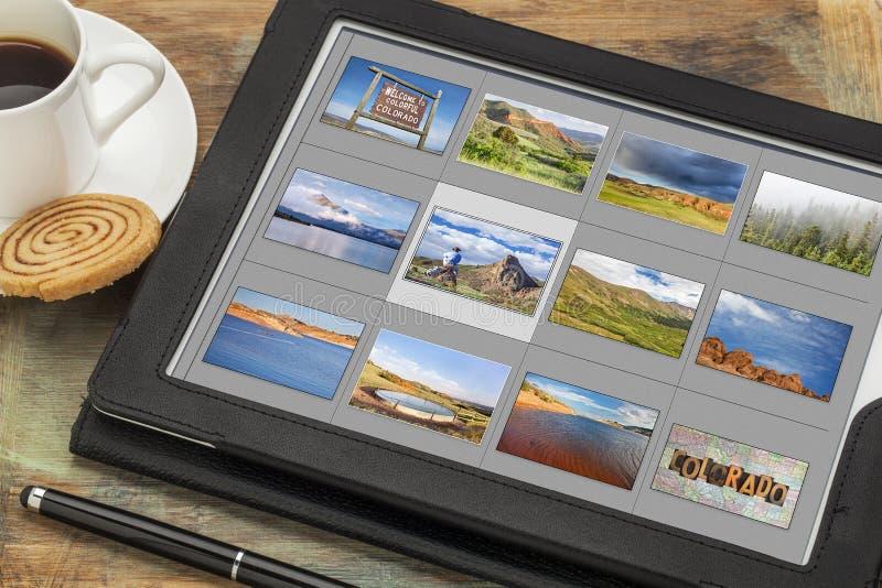 Photos du Colorado sur le comprimé numérique images stock