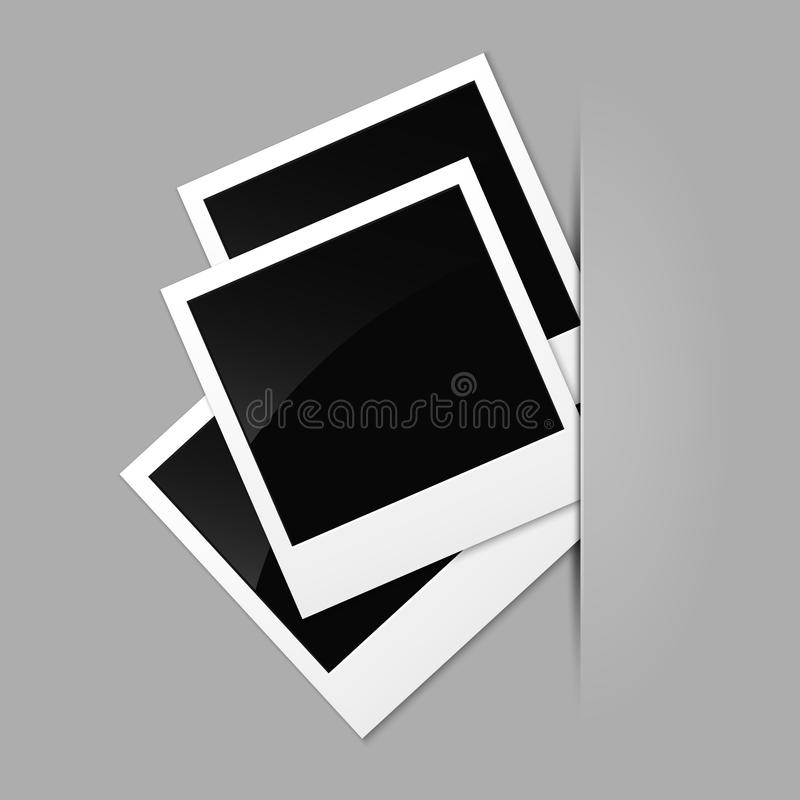 Download Photos on a gray surface stock vector. Illustration of album - 19191466