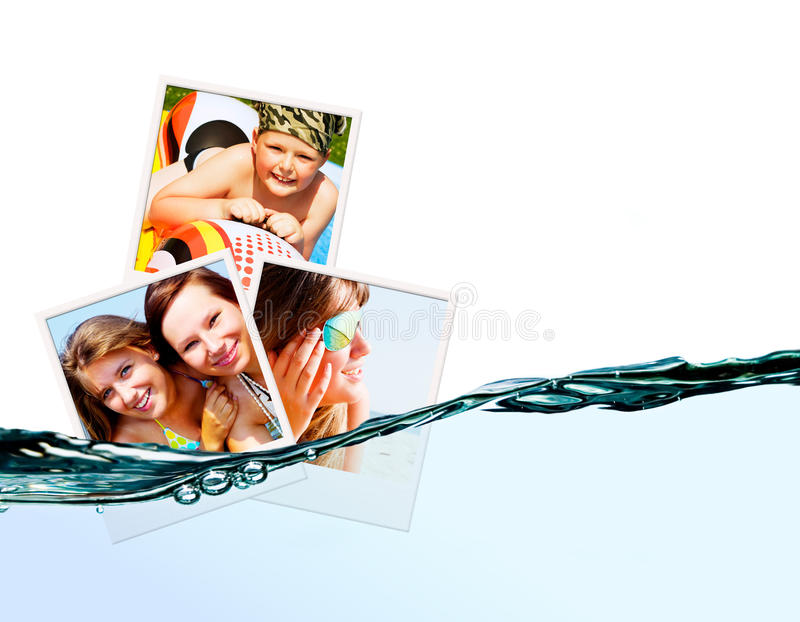Photos of holiday people with water royalty free stock images
