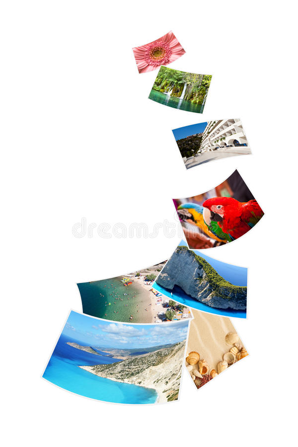 Photos of holiday on white background. royalty free stock photography