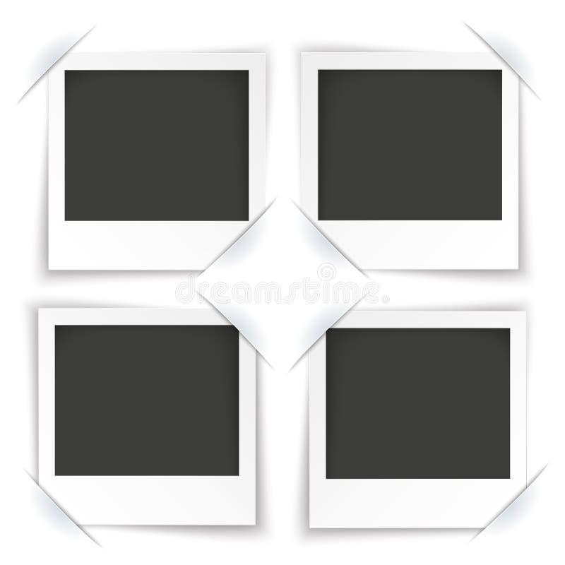 Photos instantanées du converti 4 illustration de vecteur
