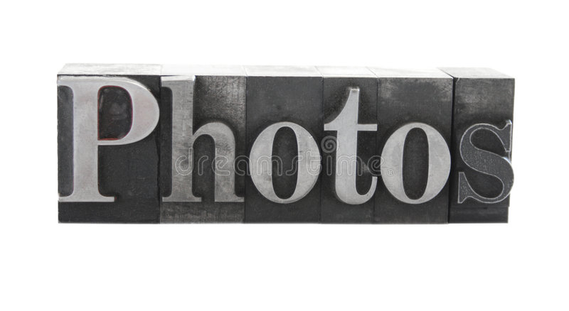 Photos  In Old Metal Type Royalty Free Stock Image