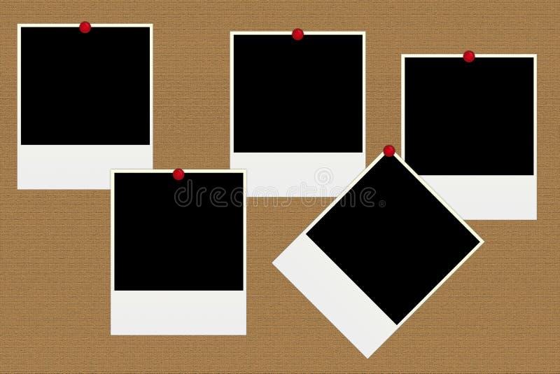 Photos polaroïd blanc illustration stock