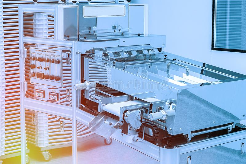 Photos sterile production area with the machine royalty free stock photography