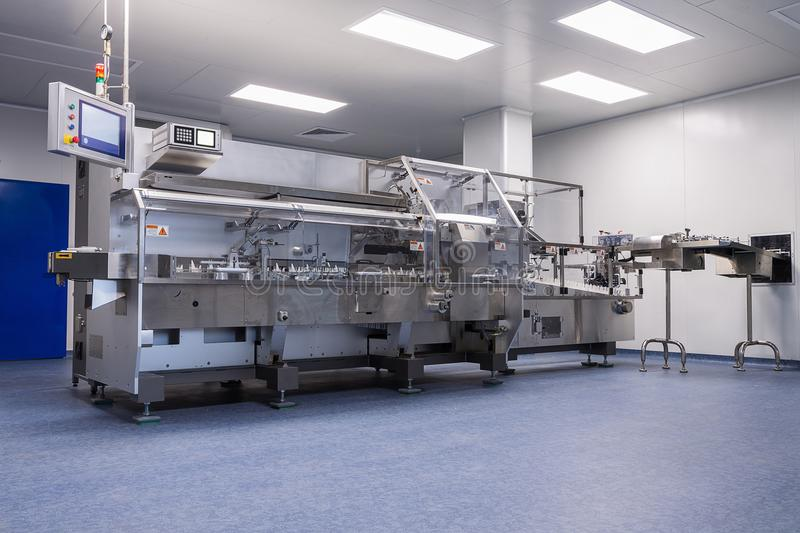 photos sterile production area with the machine for the producti royalty free stock photo