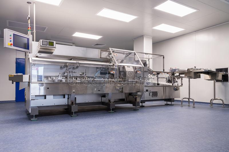 photos sterile production area with the machine for the producti royalty free stock image