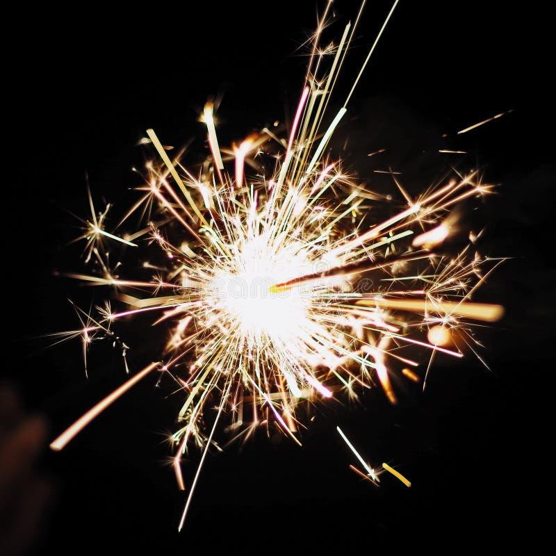 Sparkler. Photos taken in San Diego using Pentax royalty free stock image
