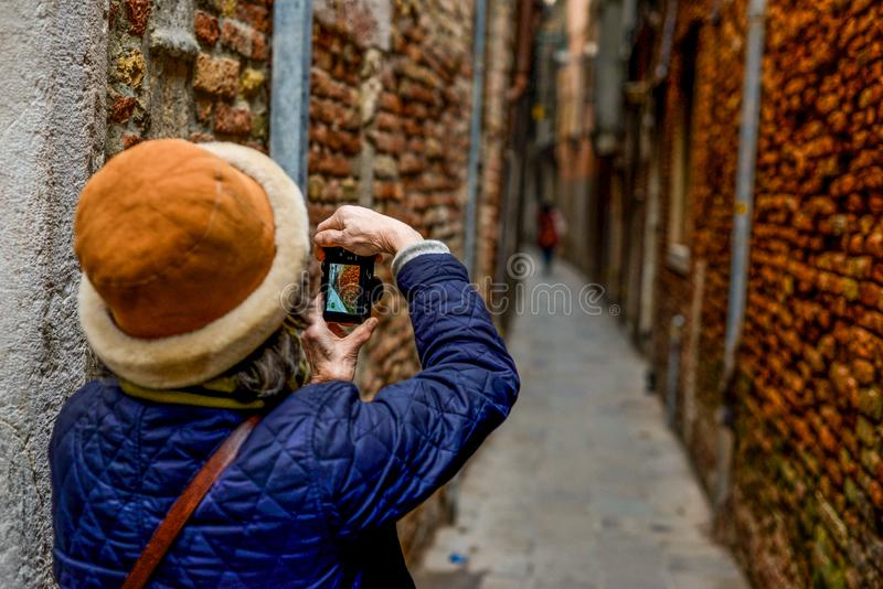Photos in Venice - Italy stock image