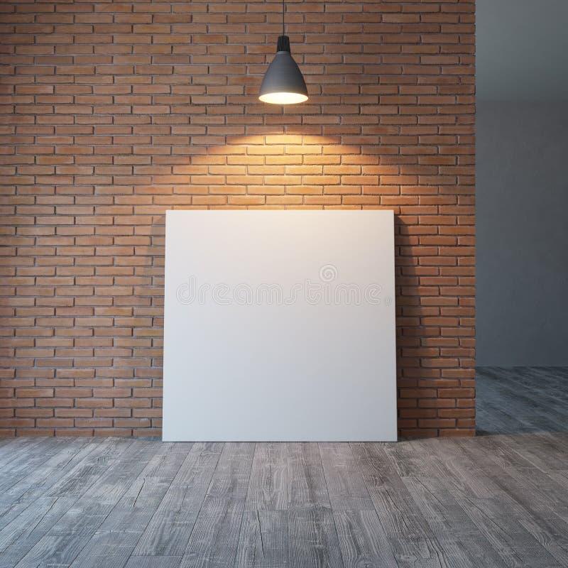 Photos vides sur le mur de briques, rendu 3d illustration stock