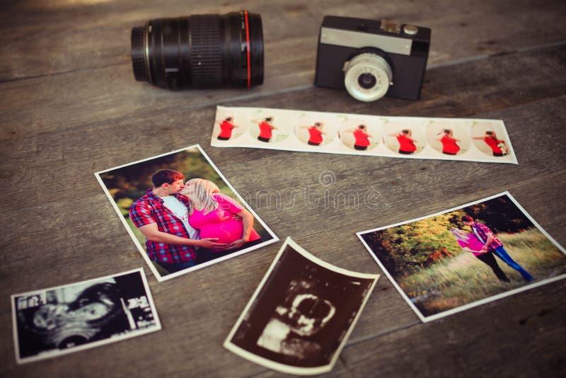 Photosfather di gravidanza immagini stock