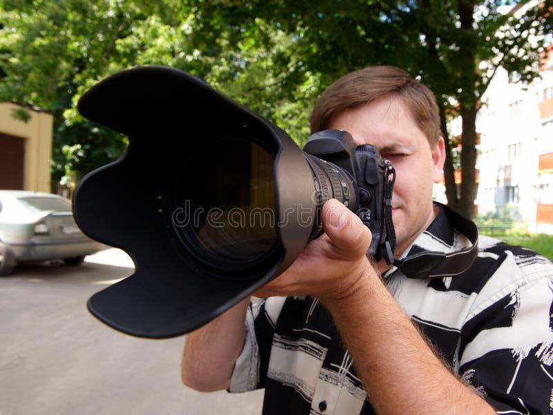 Photoshoot al aire libre fotos de archivo