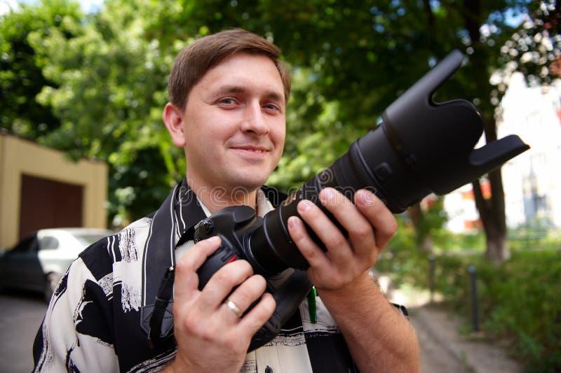 Photoshoot al aire libre fotografía de archivo