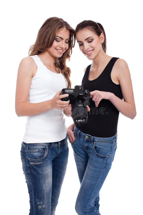 Photoshoot con un modello fotografia stock libera da diritti