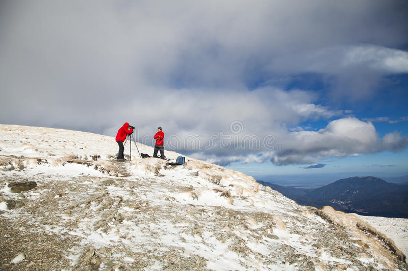 Download Photoshooting in mountain stock image. Image of assistant - 32955025