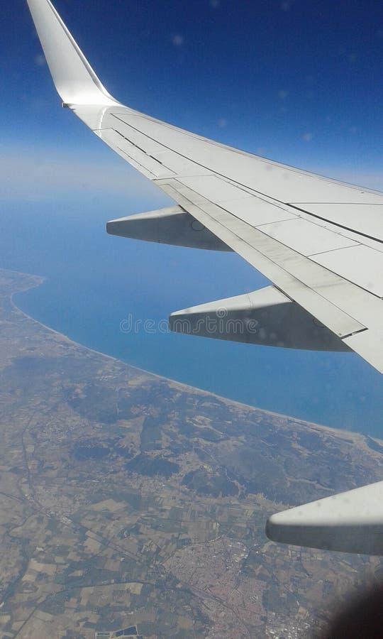 photoshop самолета изолированное летанием стоковая фотография