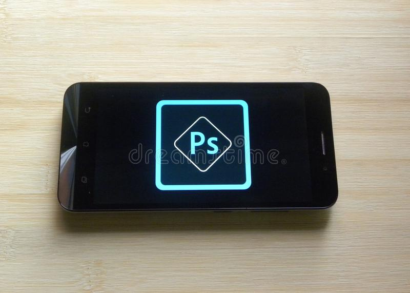 Photoshop app expreso de Adobe imagen de archivo