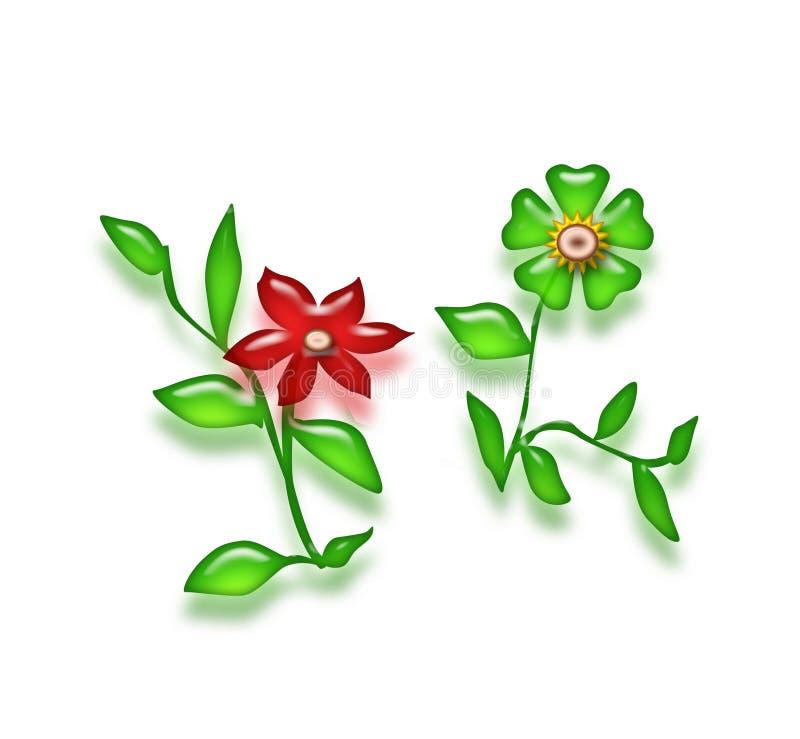 Photoshop Flowers stock illustration