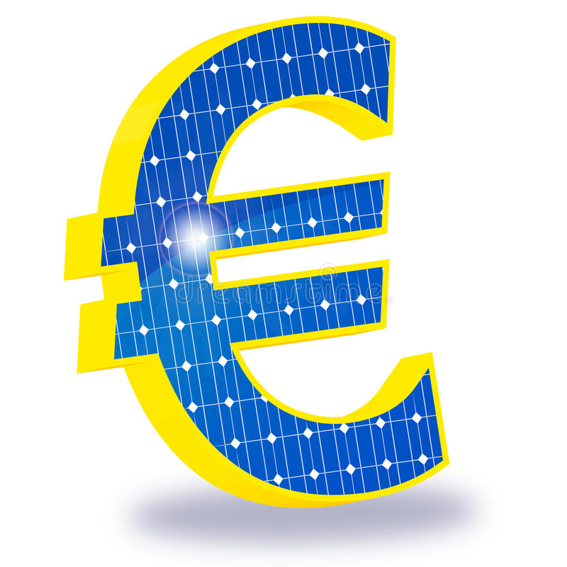 Photovoltaic aansporingen stock illustratie