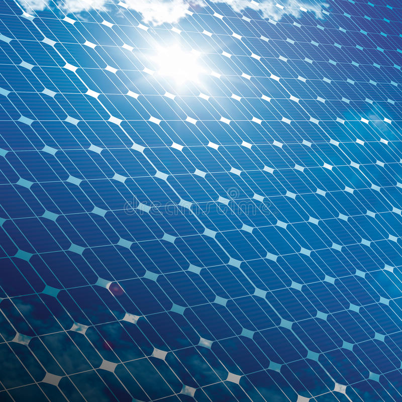 Photovoltaic ecological modules stock image