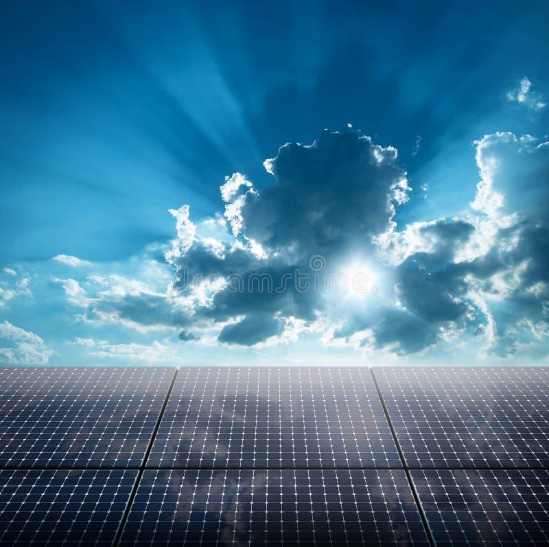 Photovoltaic ecologische modules stock foto