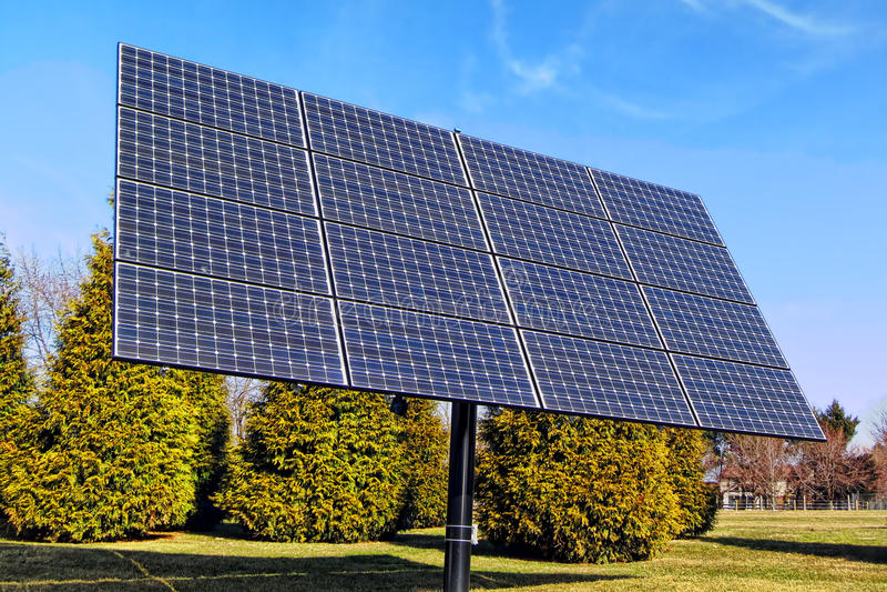 Photovoltaic Elektrycznej energii panel słoneczny szyk zdjęcie royalty free