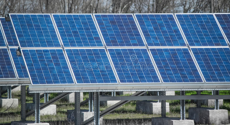Photovoltaic gebied royalty-vrije stock foto's