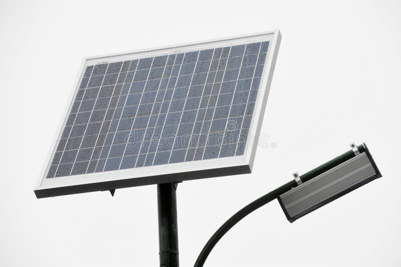 Photovoltaic openbare verlichting stock foto's