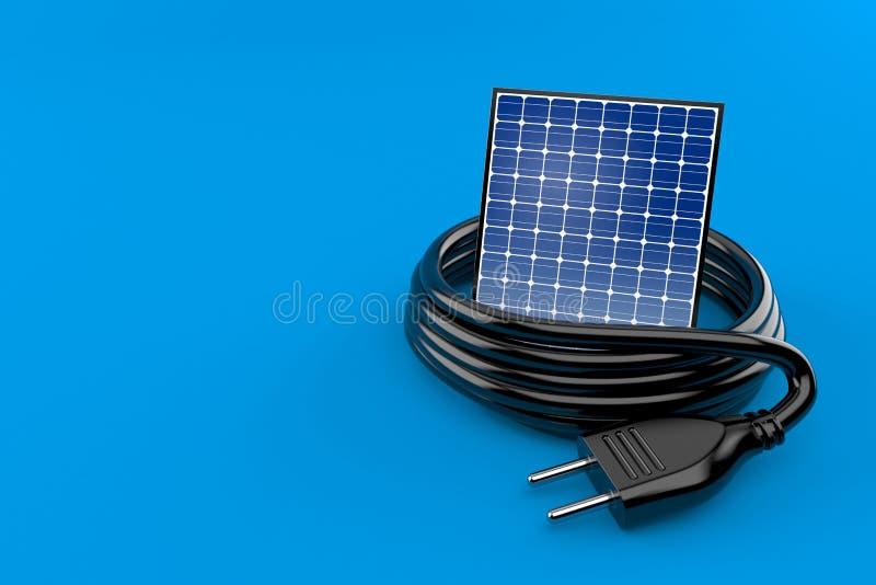 Photovoltaic paneel met elektrische stop royalty-vrije illustratie