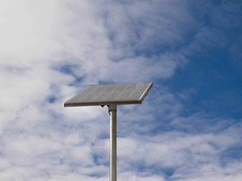 Photovoltaic paneel voor dicht omhoog geschoten van de straatverlichting royalty-vrije stock afbeeldingen