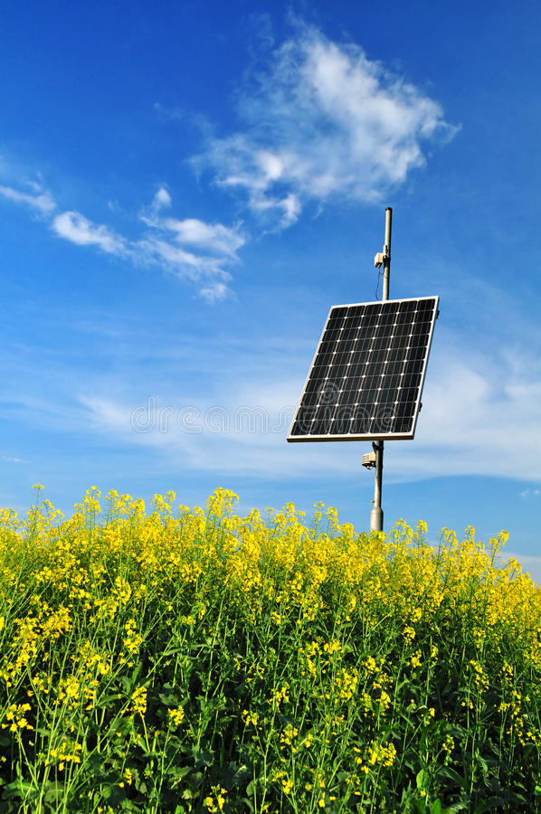 Photovoltaic panel energy stock photo