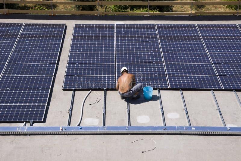 Photovoltaic panelen royalty-vrije stock afbeelding