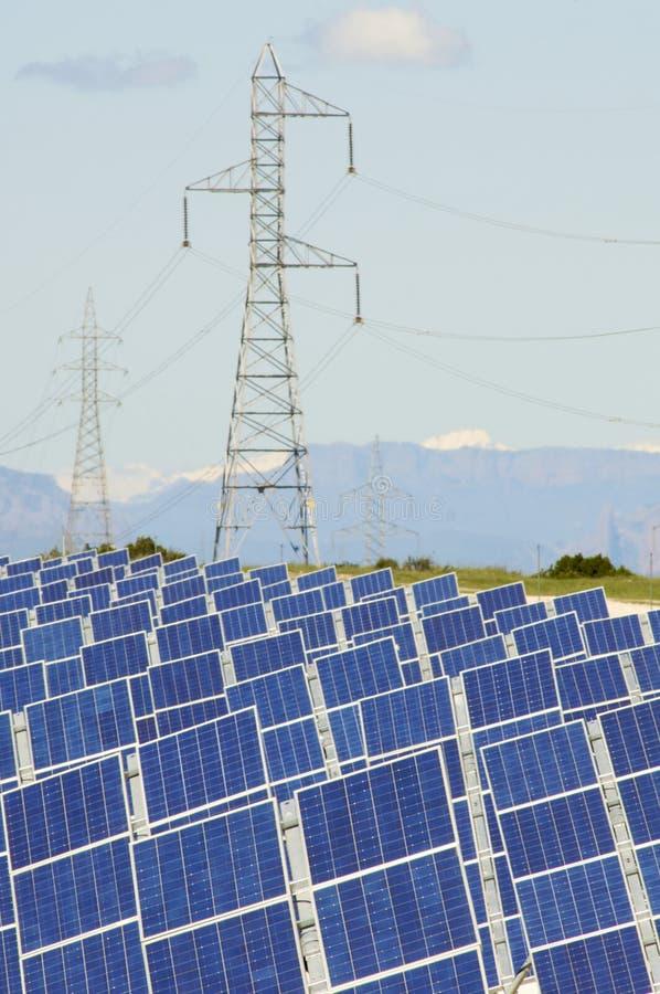 Photovoltaic panelen stock foto's