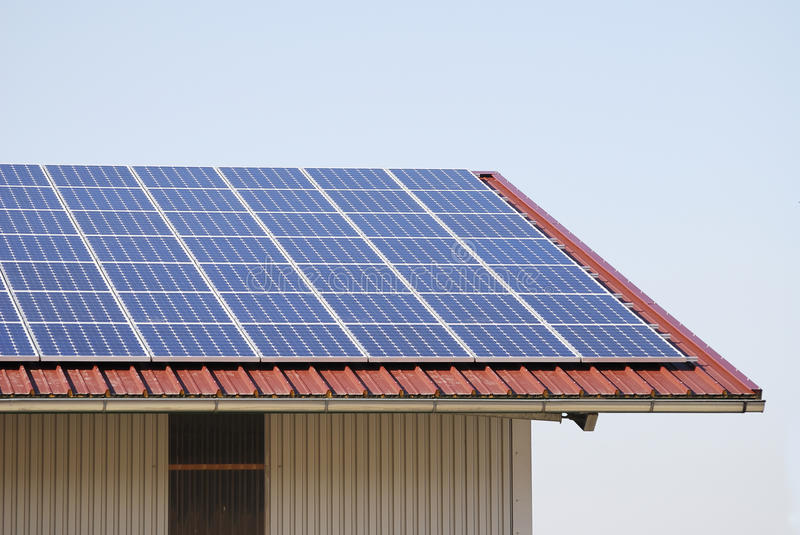 Download Photovoltaic roof stock image. Image of technology, renewable - 14265219