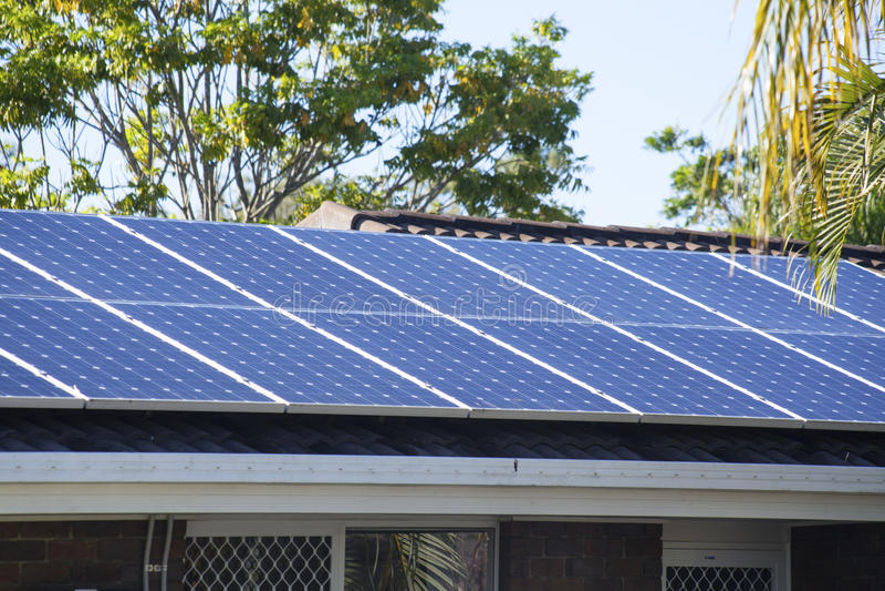 Photovoltaic solar energy stock image
