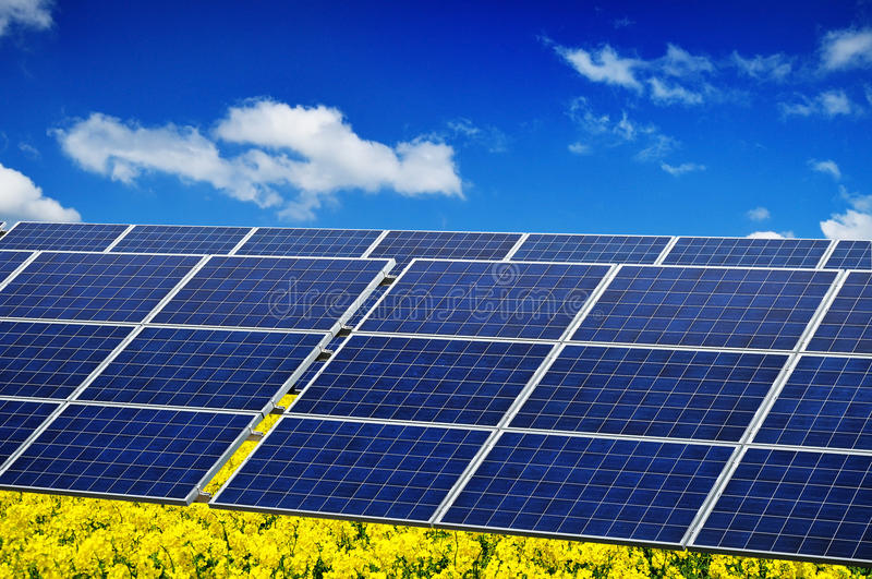 Photovoltaic solar power royalty free stock images