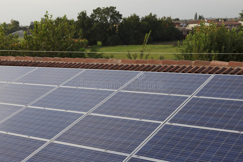 Photovoltaic solar power plant. Solar energy on the cover stock images