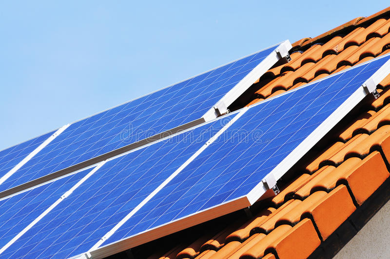 Photovoltaic system stock photo