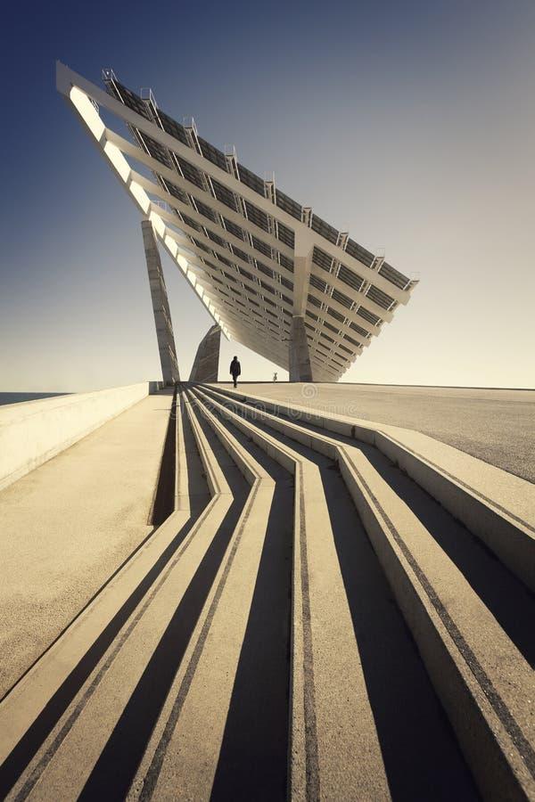 Photovoltaic talerz w Barcelomna obraz royalty free