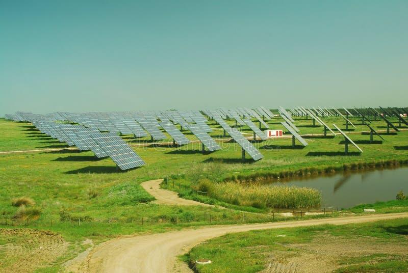 Photovoltaic växt royaltyfria foton