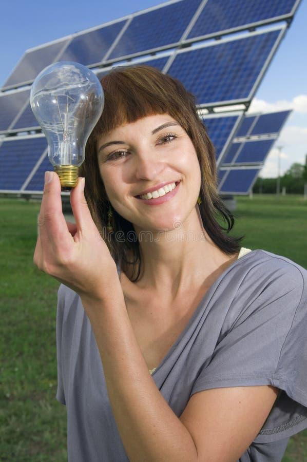 Photovoltaics und Wolfram trifft photo-voltaisches stockbilder