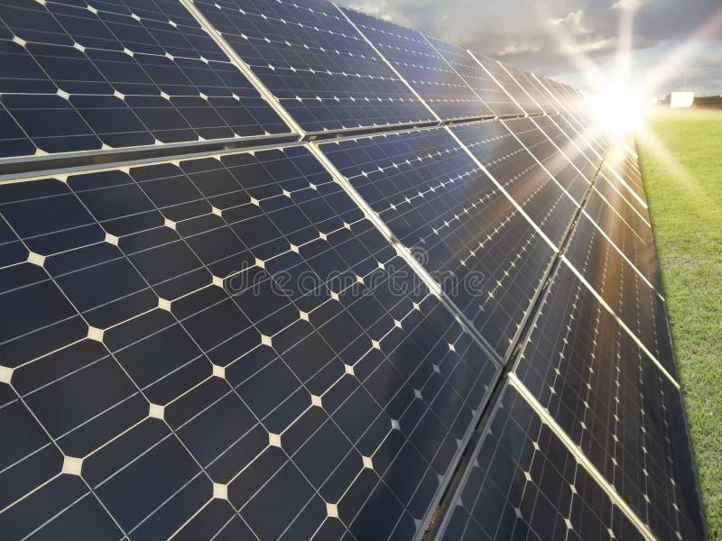 photovoltaics władzy słoneczna stacja obrazy royalty free