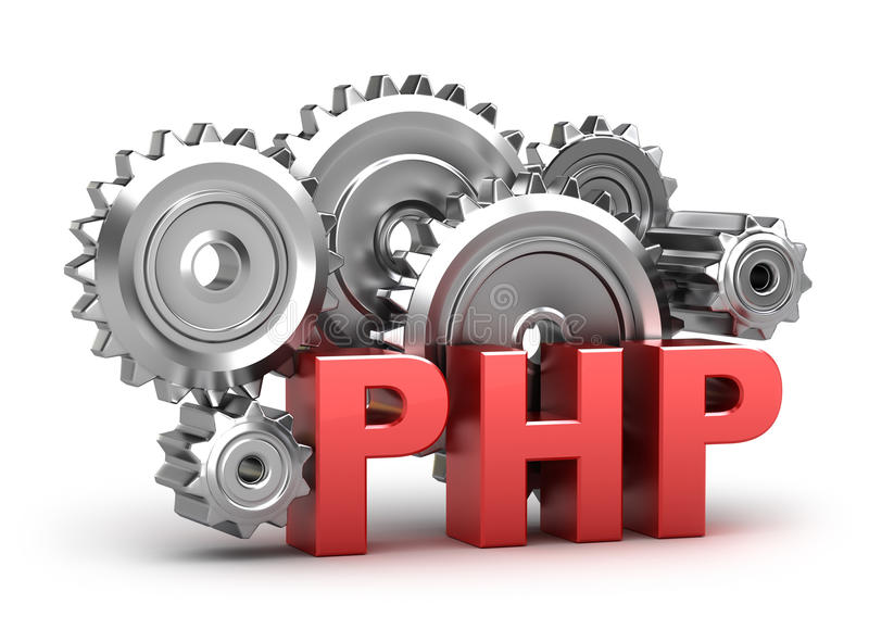 PHP Coding vector illustration