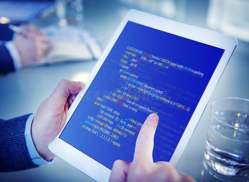 Php die HTML-Codagecyberspace Concept programmeren stock foto's