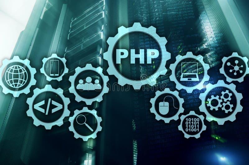 PHP j?zyk programowania Rozwija programowania i cyfrowania technologie Cyber astronautyczny poj?cie ilustracji